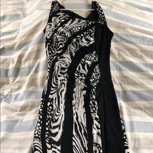 Beautiful black dress with white designs